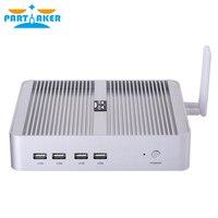 Partaker B16 DDR4 Fanless Mini PC Intel Core i5 8250U i7 8550U Windows 10 Quad Core Mini PC HDMI UHD Graphics