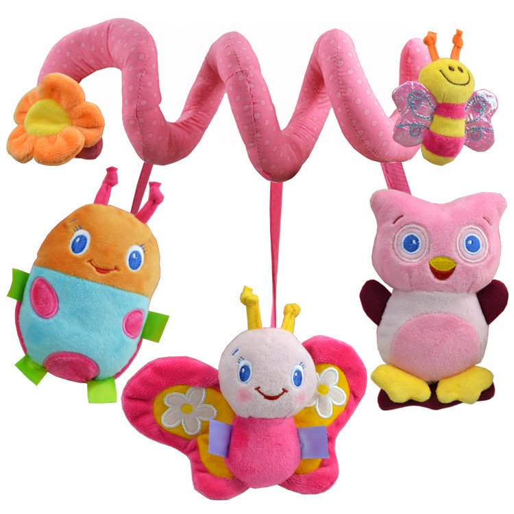 Multi-style Soft 0-12 months Baby Toy Music Spiral Bed Stroller Car Seat Hanging Bebe Educational Rattle Toys For Newborns Gifts
