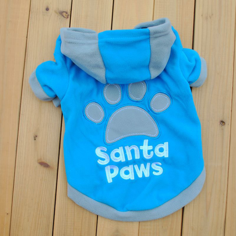 Newest Pet Dog Cat Hoodie Fleece Sweater Sweatshirt Coat Dog Clothes Hoodies Adidog Clothes Footprint Printed Clothes