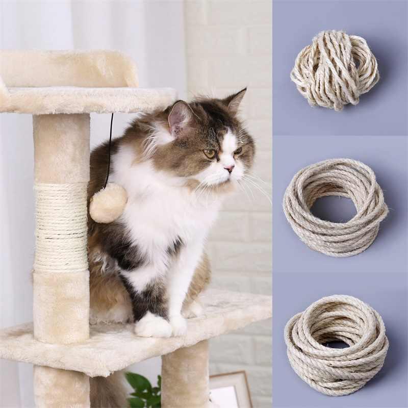 49529f7c6d9 ... 5M Natural Sisal Rope Durable 4/6/8mm DIY Making Desk Chair Legs Cat ...