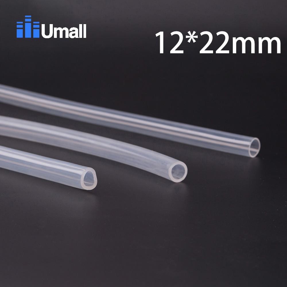 12*22mm Food Grade Medical Use FDA Silicone Rubber Flexible Tube / Hose Pipe