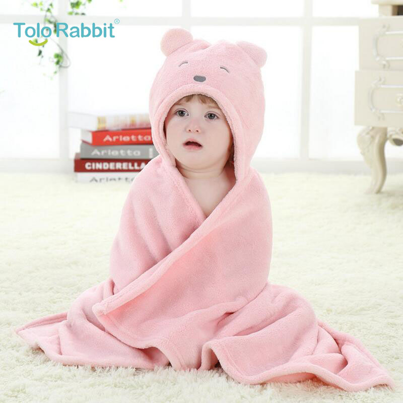 Retail Pink Girl Animal Baby Bathrobe Baby Hooded Bath Towel Kids Bath Terry Children Infant Bathing/baby Robe Honey Baby Fashionable Patterns Baby Bedding Blanket & Swaddling Able Hot