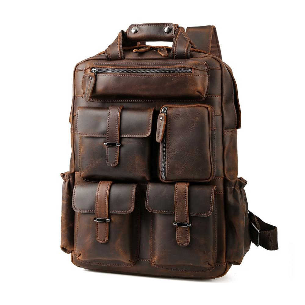 Tiding Kleine Echtem Leder Rucksack Retro Stil Rindsleder Umhängetasche Für Ipad Junge Reise Casual Tag Pack 3161 Kinder- & Babytaschen Gepäck & Taschen