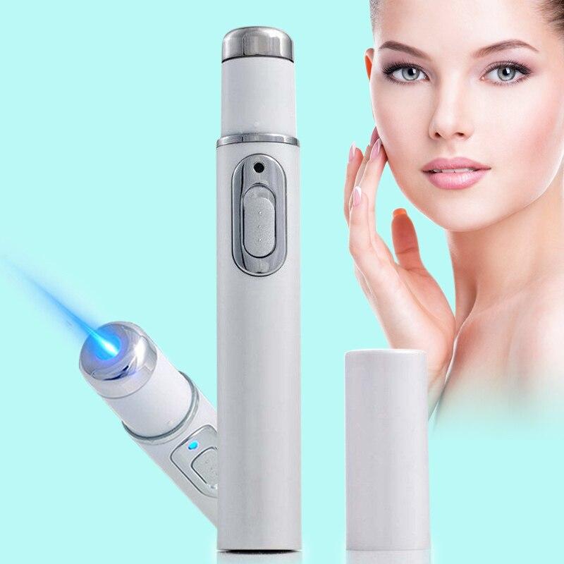 2018 azul claro Portable terapia arrugas suave cicatriz acné Remover dispositivo Durable potente pluma araña vena ojos cuidado de la piel herramientas