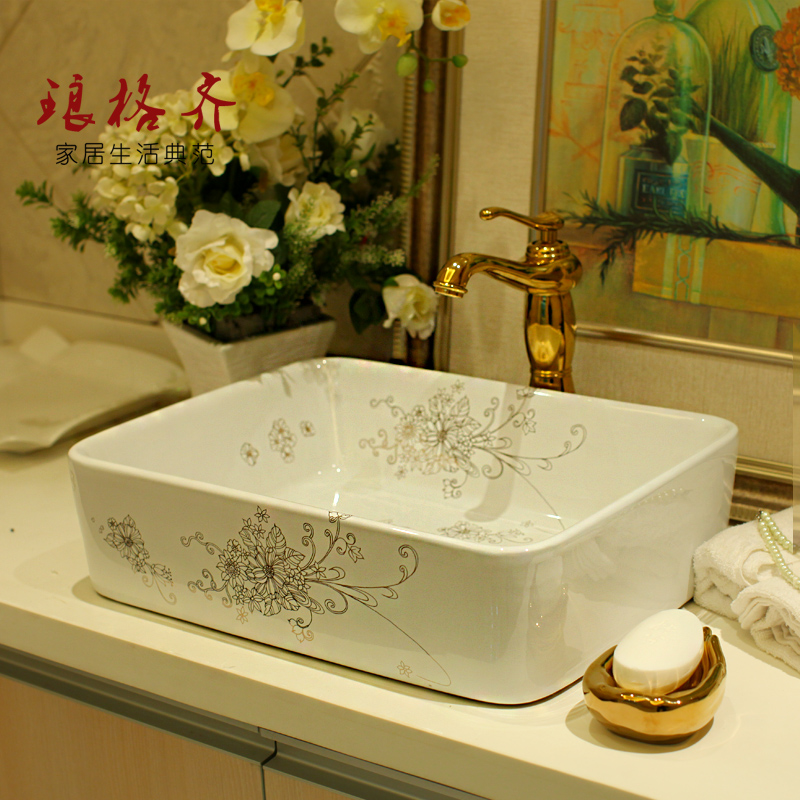 square wash basin sanitary ceramics art basin party flowerssquare wash basin sanitary ceramics art basin party flowers
