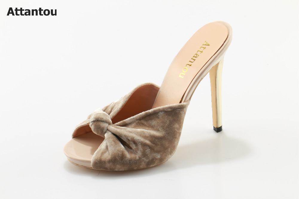 2017 woman sandals elegant suede summer slipper high heels thin heel casual shoes slip-on wedding party female dress shoes cicime women s heels thin heel spikes heels solid slip on wedding fashion leisure casual party dressing high heel platform pumps