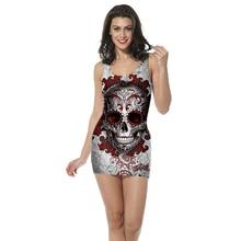 3D Print  women womens clothing tank top dress Gothic straight sleeveless Quality quality skull Dropshipping