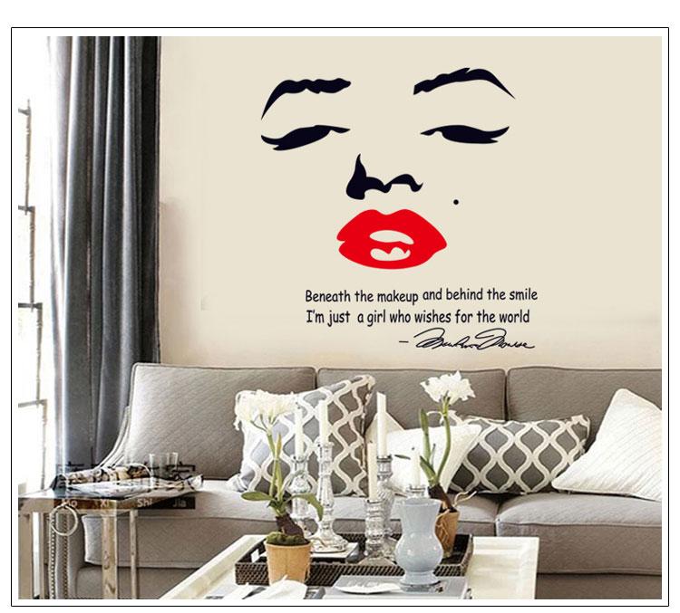 Vintage Marilyn Monroe Audrey Hepburn Wall Sticker