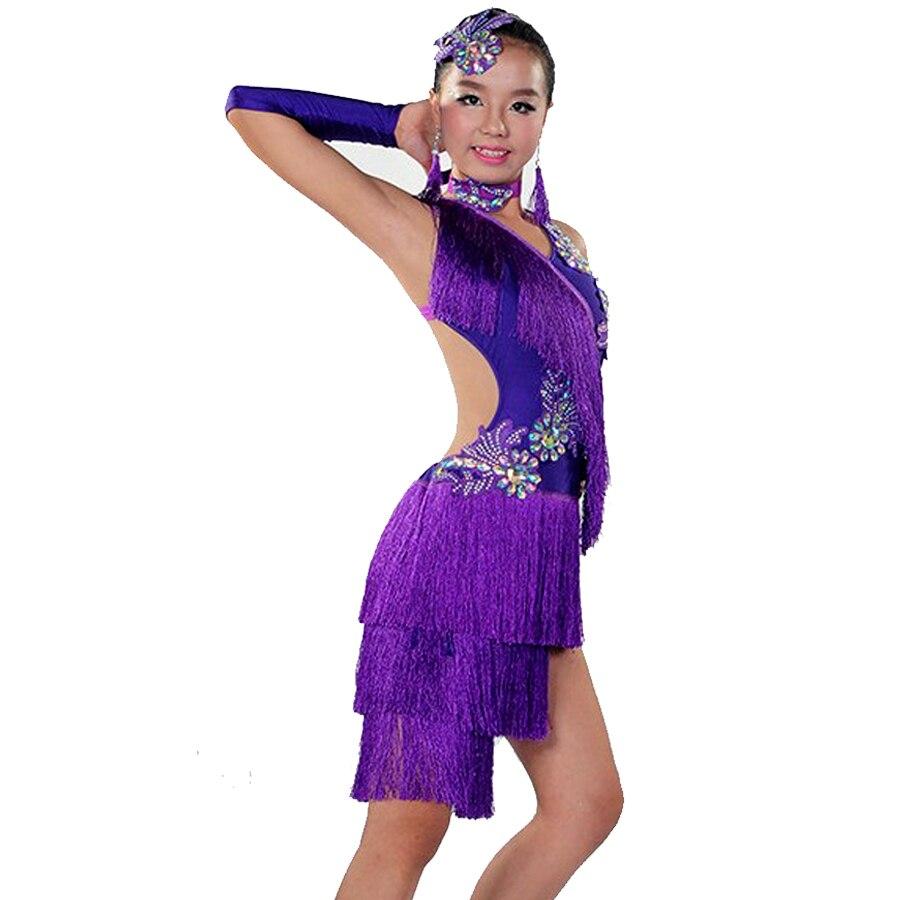 Vestidos latino Niño de baile a la venta de 6 colores Cha Cha ...
