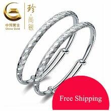 A Estrenar S990 Pura Plata de Ley Pulseras Para Las Mujeres de Oro de China Marca de Lujo Elegante Brazalete de Joyería Fina lluvia de Meteoros CGB002