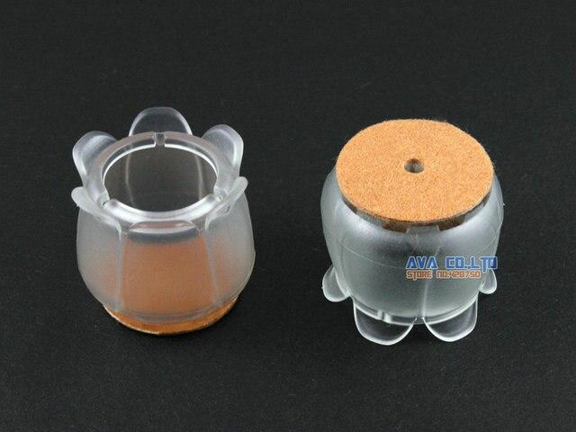 24 Pcs 2825mm Bouchon Pied De Chaise Pieds En Caoutchouc Protecteur Pad Fleur Couverture
