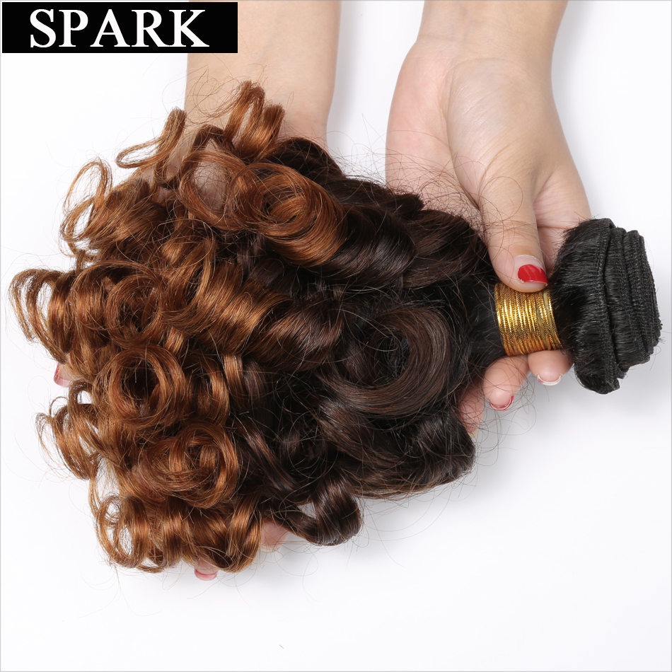 Spark 1b 4 30 Peruvian Bouncy Curly Hair 12 26 Inch Remy