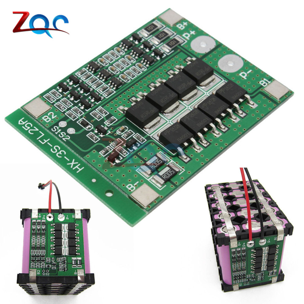 3S 25A Li-ion 18650 BMS PCM Battery Protection Board BMS PCM With Balance For li-ion Lipo Battery Cell Pack Module 12V aiyima 2pc 4s 14 8v 12a li ion lithium battery bms 18650 charger protection board module 16 8v overcharge over short circuit