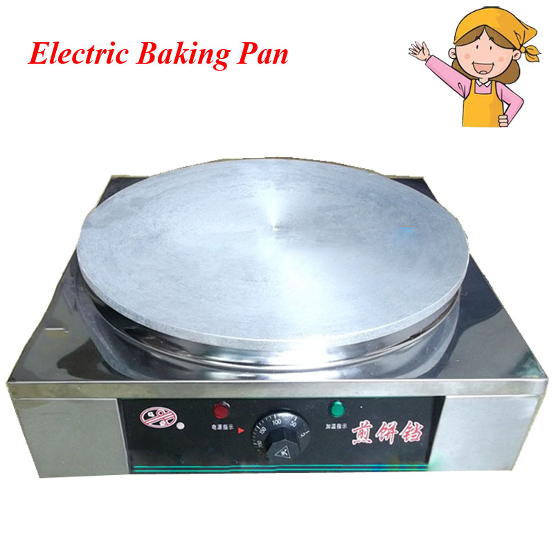Desktop Electric Automatic Thermostat Stainless Steel Pancake Machine Grain Frying Machine Frying Pan 20 Type