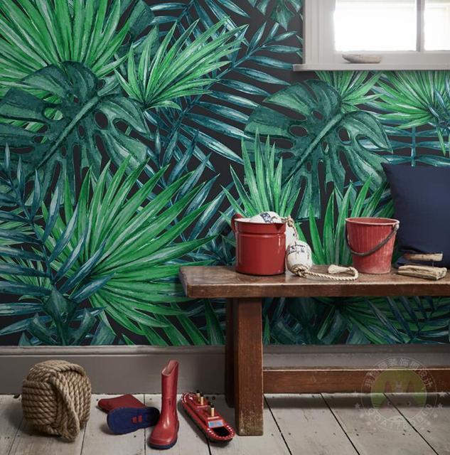 papier peint tropical papier peint cole and son palm jungle forest u white papier peint. Black Bedroom Furniture Sets. Home Design Ideas