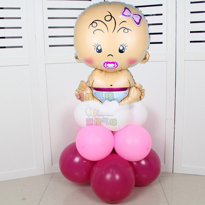 New Arrived 17pcs/lot Angel Baby upright Latex balloons baby shower party foil baby boy girl balloons Birthday Party Decoration