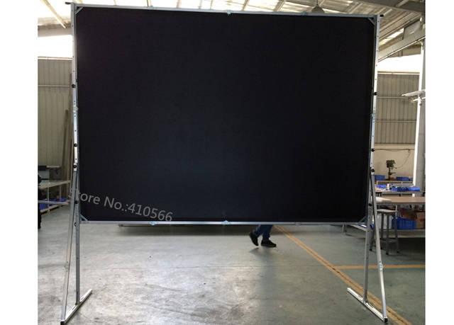 Us 490 5 10 Off Hohe Qualitat Hinterhof Kino Theater Leinwand 120 Zoll 4 3 Hdtv Format Schnelle Open Floor Stand Bildschirme In Projektionsflachen