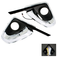 2Pcs Set Car Styling DRL Daytime Running Light Auto Accessories With Yellow Turn Signal Function For