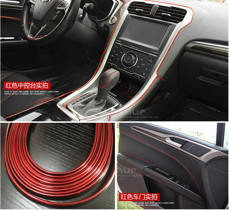5Mlot Universal DIY Moulding Trims Strips Car Styling Sticker Accessories for Ford Focus 2 3 fiesta mondeo ecosport fusion MK3