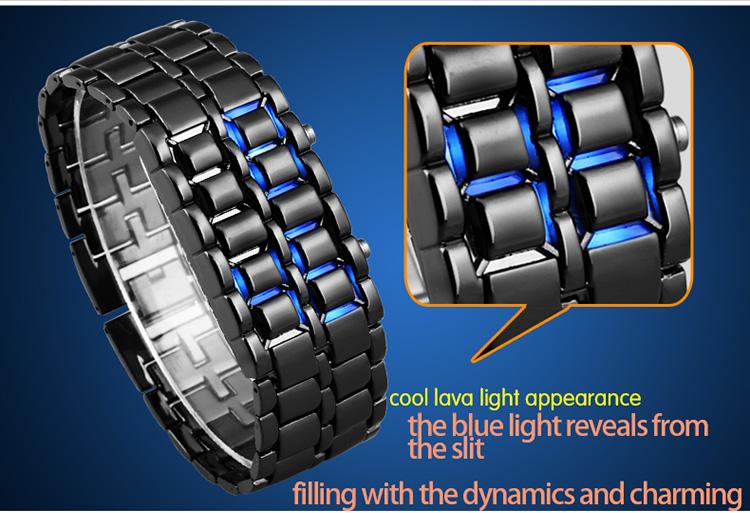 Aidis youth sports watches waterproof electronic second generation binary LED digital men's watch alloy wrist strap watch 25