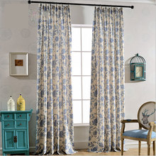 Chinese style Datang Tsing Yi cotton and linen Blackout Curtains for Living Room Colorful Bedroom Curtains Luxury Curtains  0191