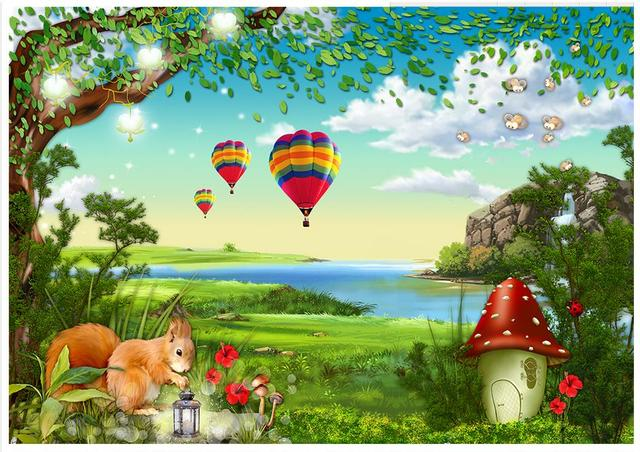 Cartoon forest wallpaper for Cartoon mural wallpaper