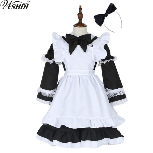 15e7e802f40 Hot Sale Halloween Christmas Alice in Wonderland Costumes Child cute Maid Lolita  Dress Love Live Cosplay Clothes For Sale