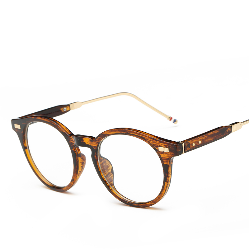 fashion cat eye glasses frame women brand designer round vintage eye glasses men plain eyeglasses frame