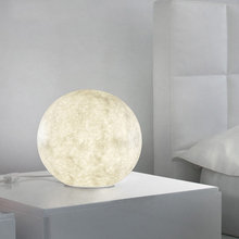 Modern glass ball moon table lamp creative LED art deco desk light fixture for living room bedroom bedside lamp office lamp E27 недорого