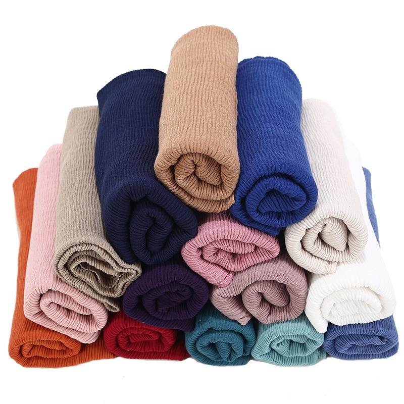 Image 4 - crinkle shawl fashion muslim hijabs women maxi scarf NEW Skin  pleated hijab scarf plain shawls islamic scarfs 20 color hot  saleWomens Scarves