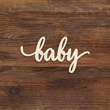 Baby Script Wooden sign Laser Cut Shower Decoration 1st Birthday Gift Door Decor Living Room Wall Wood Sign