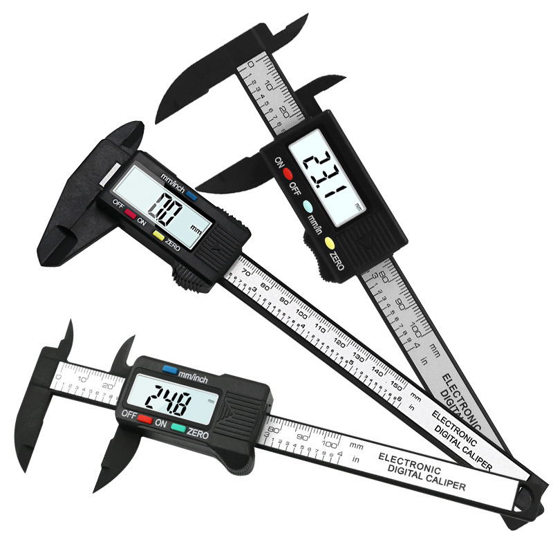 High Precision Electronic Digital Display Caliper 100/150mm Plastic Measuring Tool Inner Diameter Outer  Gauge Ruler