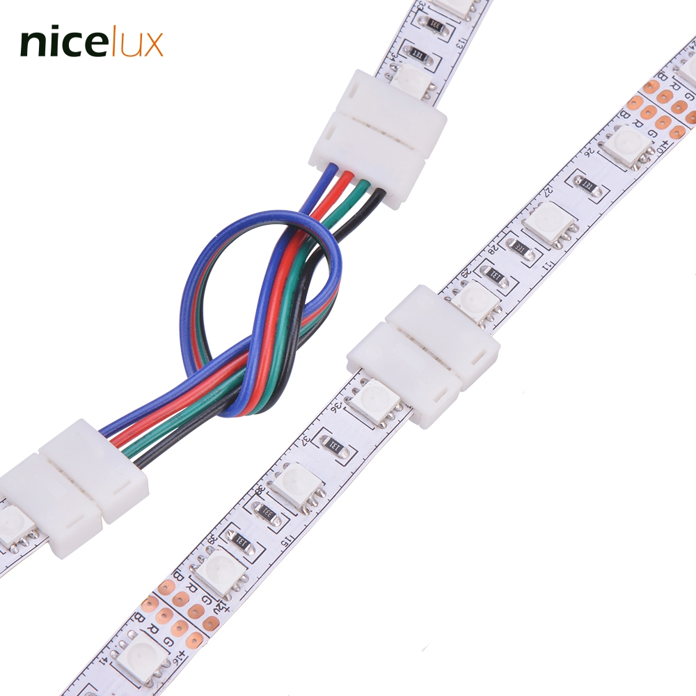 5pcs 2pin 4pin 5pin LED Strip Connector for 8mm 10mm 12mm 3528 5050 5630 RGB RGBW IP20 Non-waterproof LED Strip to Strip Joint led connector 2 pin 3 pin 4 pin solderless for 8mm 10mm 5050 3528 ws2811 ws2812b 5630 5730 smd led strip 5pcs lot