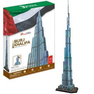 Candice guo! 3D puzzle toy CubicFun 3D paper model jigsaw game Burj Khalifa currently the tallest building in the world mini architecture series 4 cubicfun 3d educational puzzle paper