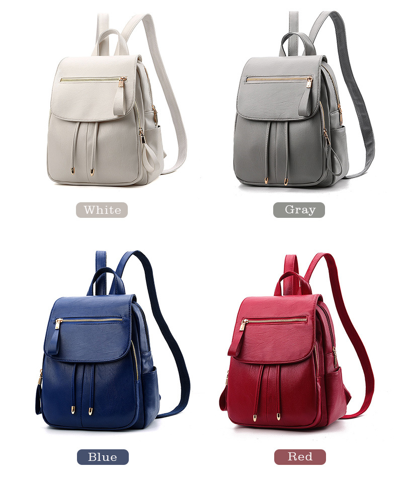 HTB1ID.ZajDuK1Rjy1zjq6zraFXap LIKETHIS Backpack In Women's Casual PU Leather Knapsack Travel Mochila Escolar Masculina Backpack Zainetto Donna Lady Solid New