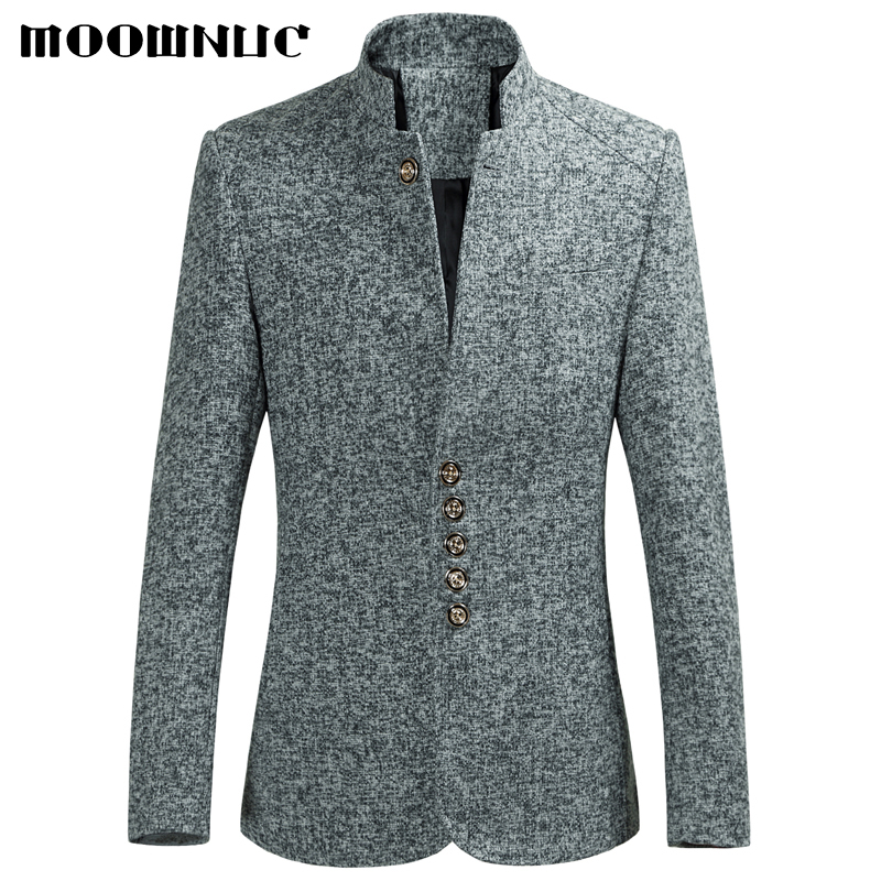Blazers Men Hot Sale Autumn Chinese style Casual Suits Large Size Male Spring Fashion Suits High Quality Coat Brand MOOWNUC 6XL