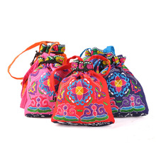 Fashion Embroidery Home Totes!Multi Floral Embroidered Makeu