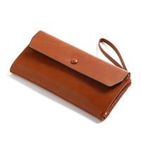 New Women Wallet PU Leather Card Coin Holder Money Clip Long Clutch Phone Wristlet Trifold Zipper Cash Photo Brand Female Purse Women Wallets