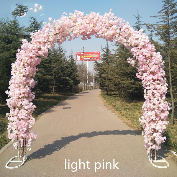 High Quality Wedding Site Layout Mall Opening Arches Sets Event Decoration Supplies Arch Shelf Cherry Blossoms Free Shipping In Artificial Dried Flowers