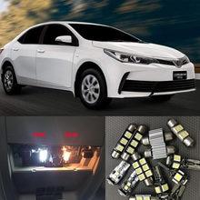 6x branco canbus led interior do carro luzes pacote kit para 2003 - 2016 2017 2018 2019 toyota corolla led interior cúpula tronco luzes