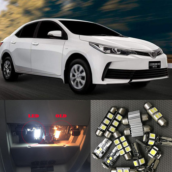 6X White Canbus led Car interior lights Package Kit for 2003 - 2016 2017 2018 2019 Toyota Corolla Dome Trunk