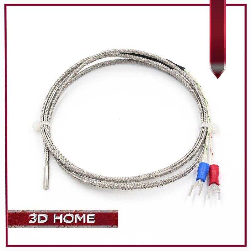 10 unids/lote 1 m K Termopar Tipo 3mm Calefacción final de Alta Sensor de Temper