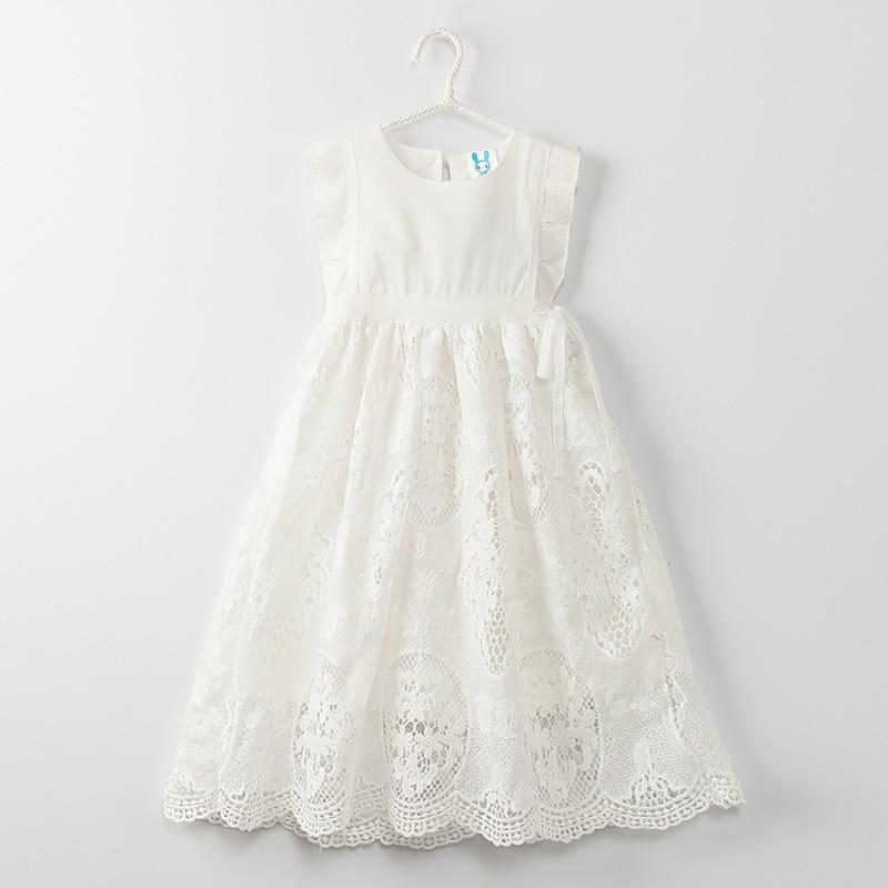 eb62e5e4f14 2019 New Girls Lace Summer Dress Kids Fashion Sundress Baby Sleeveless Dress  Children Dress Toddler Floral Dress