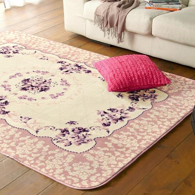 Große Größe 185 cm Weiches Wasser Waschen Teppich Kinderzimmer Rosa ...