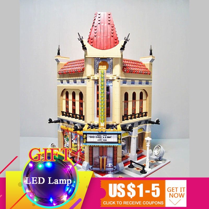 15006 2354pcs City Series Palace Cinema Set Model Building Blocks Compatible with 10232 toys For Children 0367 sluban 678pcs city series international airport model building blocks enlighten figure toys for children compatible legoe