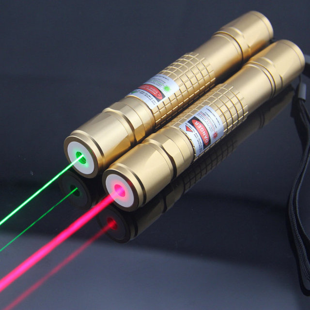 JSHFEI Laser Pointer green laser pointer light match Golden style include 18650 battery and charger wholesale LAZER 532nm laser