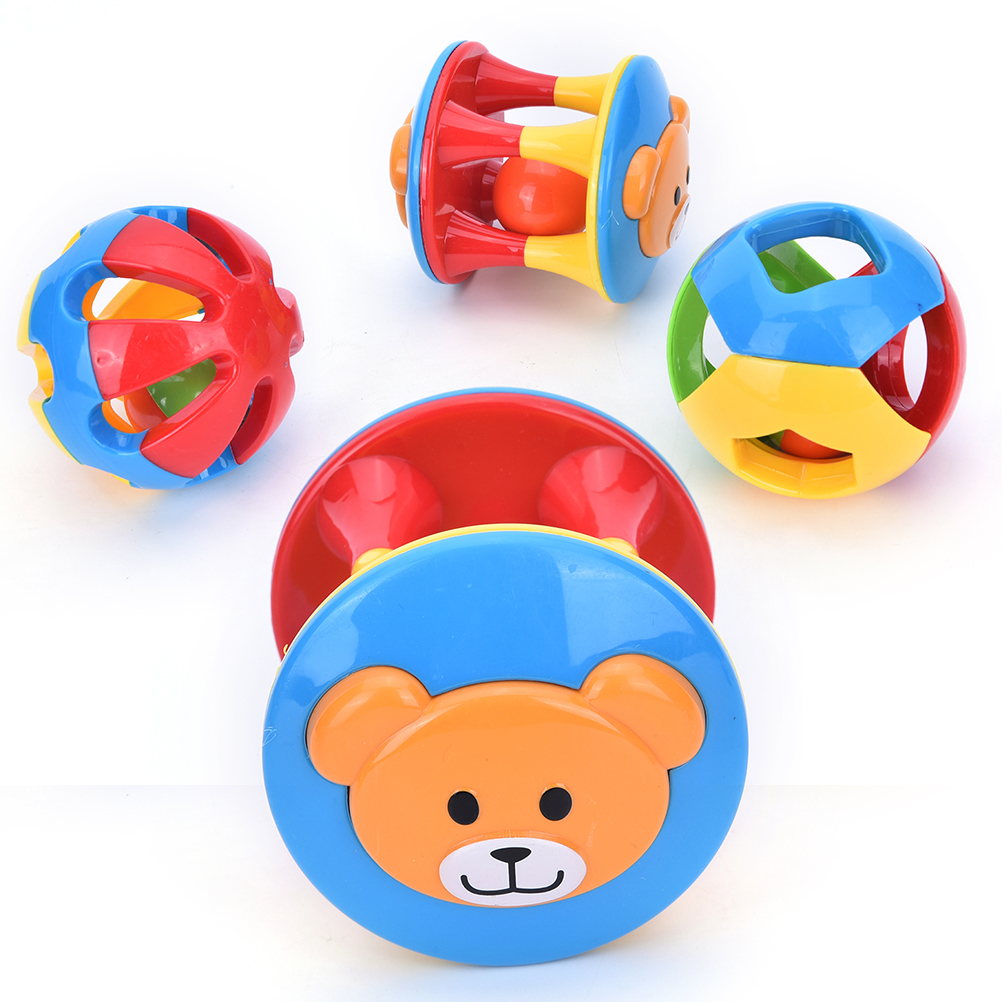 2017 New Rattles Baby Plastic Lovely Baby Toys Hand Shake Bell Ring Toys Baby Educational Toys Wholesale