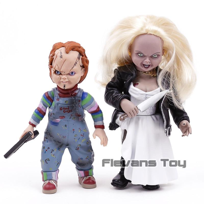 Bride of Chucky Chucky & Tiffany Horror Dolls PVC Action Figure Collectible Model Toy 2pcs/set все цены