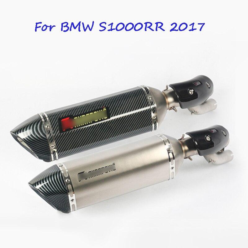 Для BMW S1000RR 2017 мотоциклов выхлопных Системы скольжения на Ближний Середина ссылку трубки с DB убийца для BMW S1000RR 2017