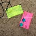 Designer Neon color ransparent bag multi function Clutch crossbody Purse runway bag Bolsa